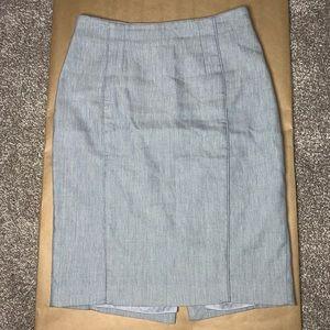 WHBM Grey Pencil Skirt Size 2
